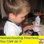 homeschooling preschool you can do it