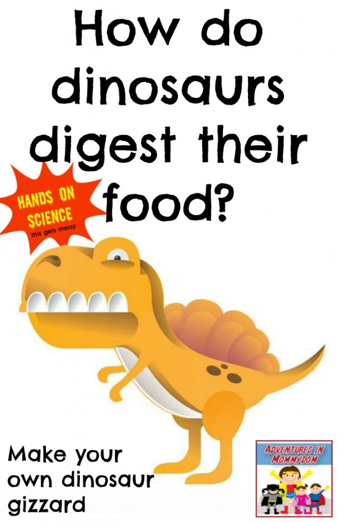 how do dinosaurs digest their food
