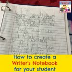 how to create a writer's notebook for your student
