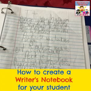 Creating a writer's notebook for your child