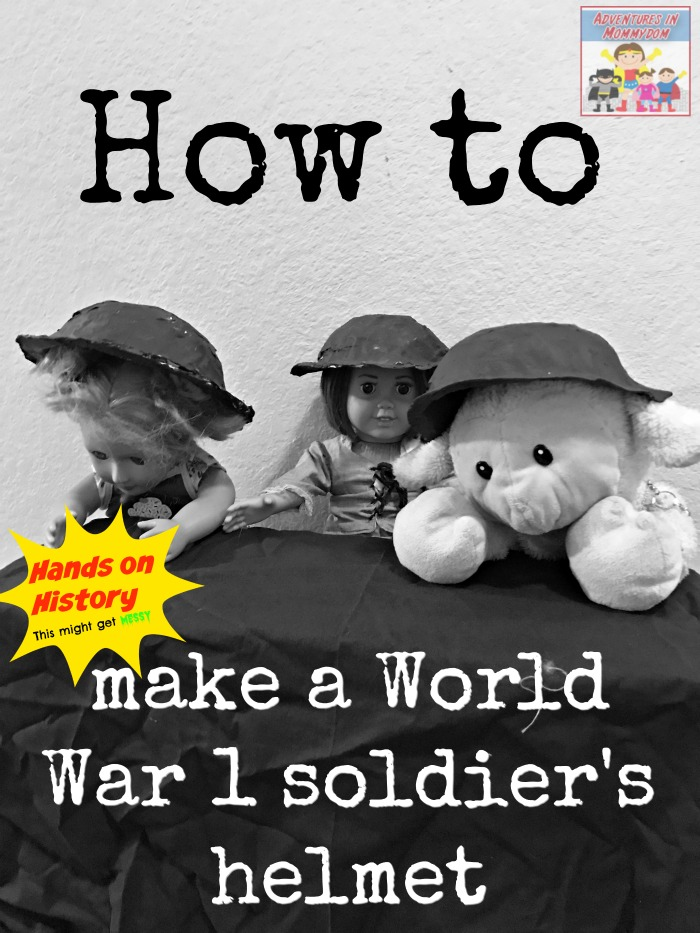 how to make a World War 1 soldier helmet for kids