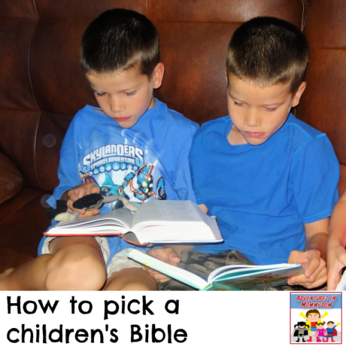 how to pick a children's Bible
