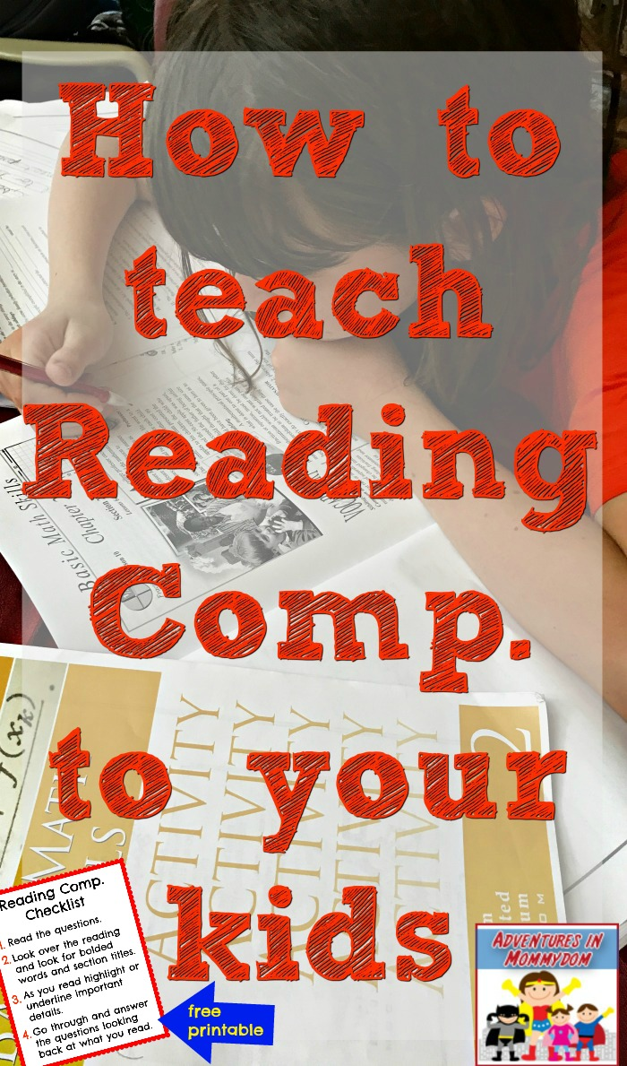 how to teach reading comprehension to your homeschool kids