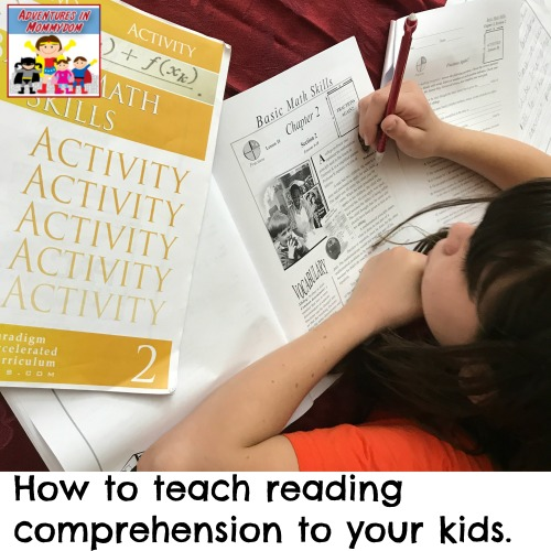 how to teach reading comprehension to your kids