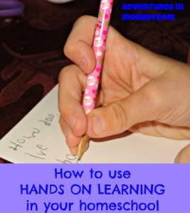 how to use hands on learning in your homeschool