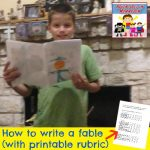 how to write a fable with printable rubric