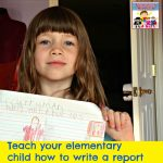Teaching early elementary students how to write reports