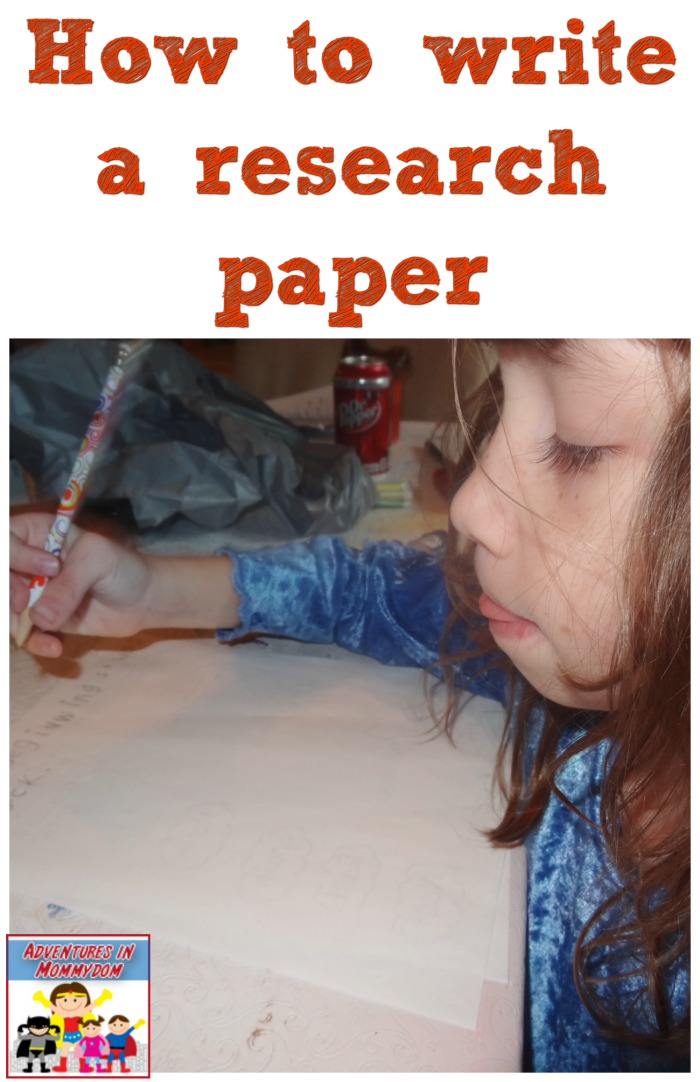 how to write a research paper for young kids homeschool