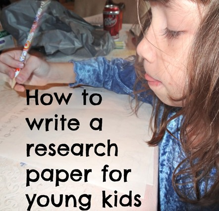 how to write a research paper for young kids