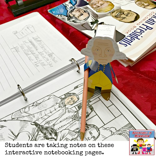 interactive history notebook for elementary kids