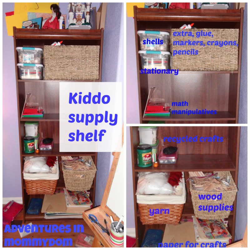 kiddo supply shelf for independent learners