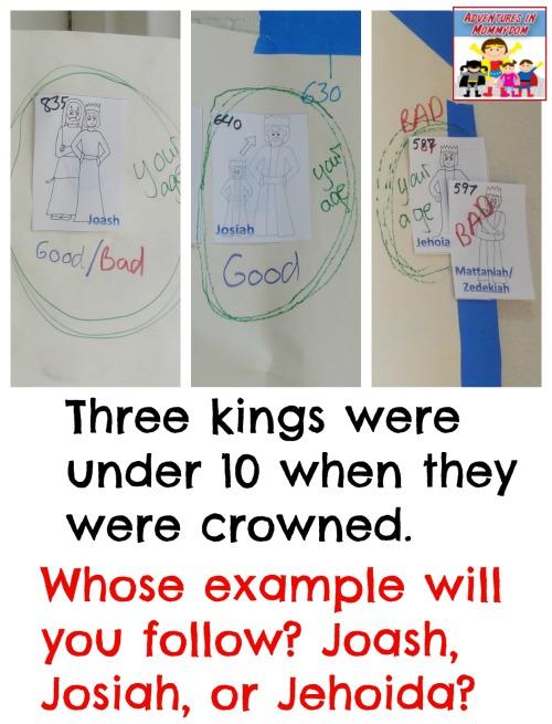 kings of Judah three kings under 10