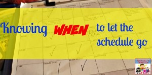 Knowing when to let the schedule go