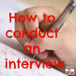 how to conduct an interview and learning to write