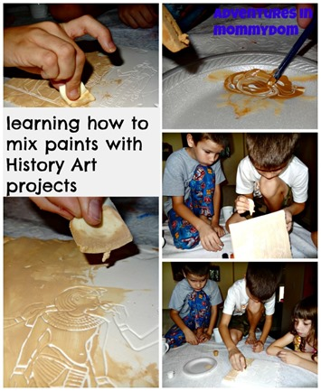 learning how to mix paints