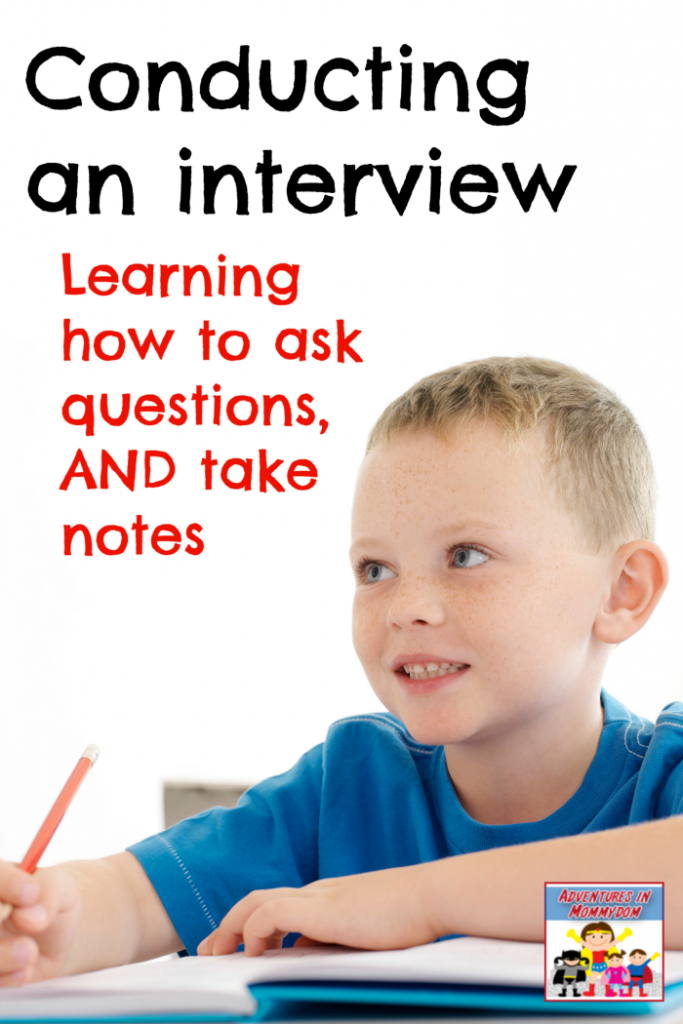 learning to interview an adult