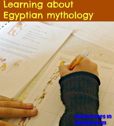 learning about Egyptian mythology