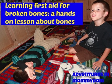 learning first aid for broken bones