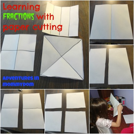 learning fractions with paper cutting