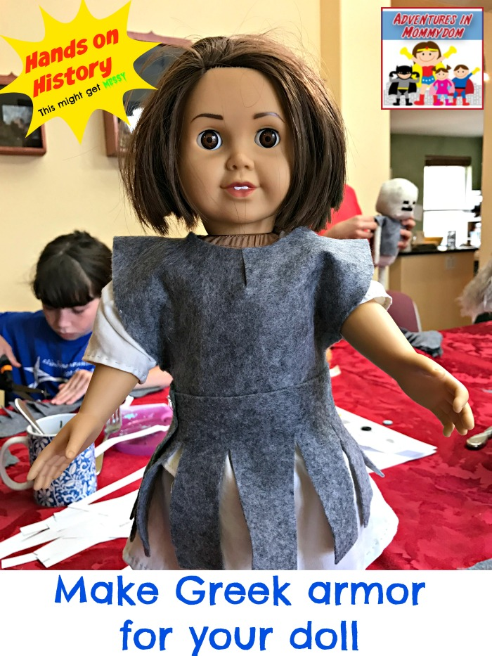 make Greek armor for your doll