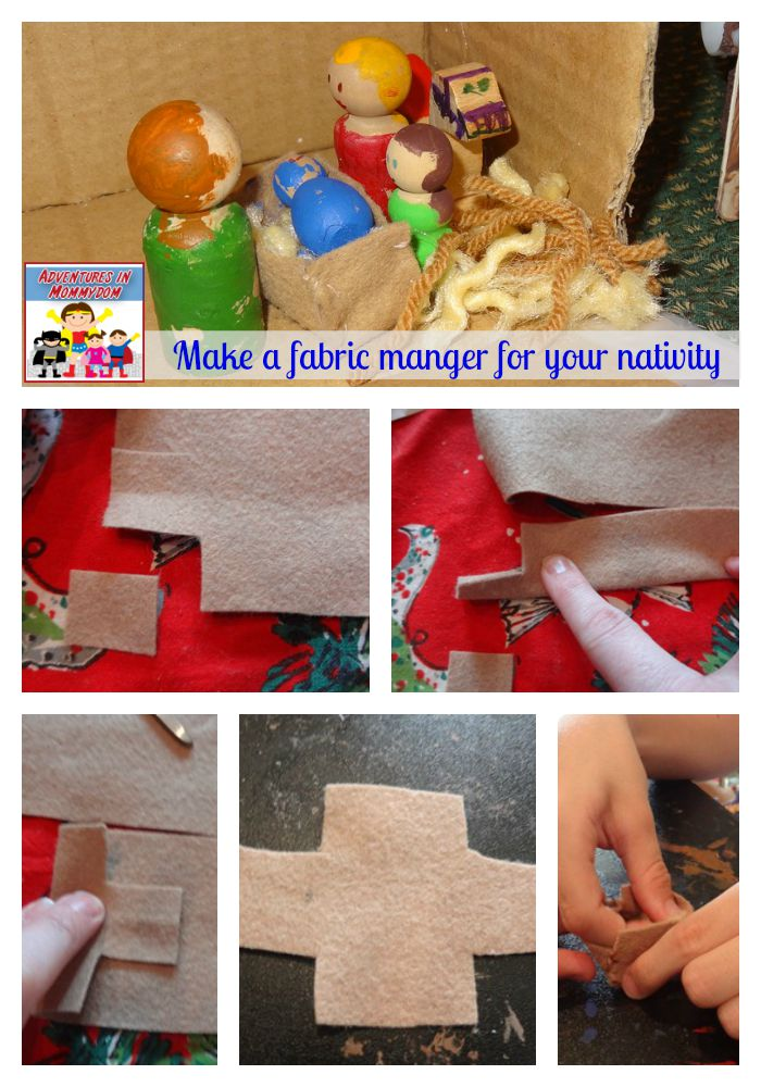 make a fabric manger for your nativity