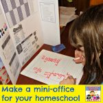 make a mini office for your homeschool