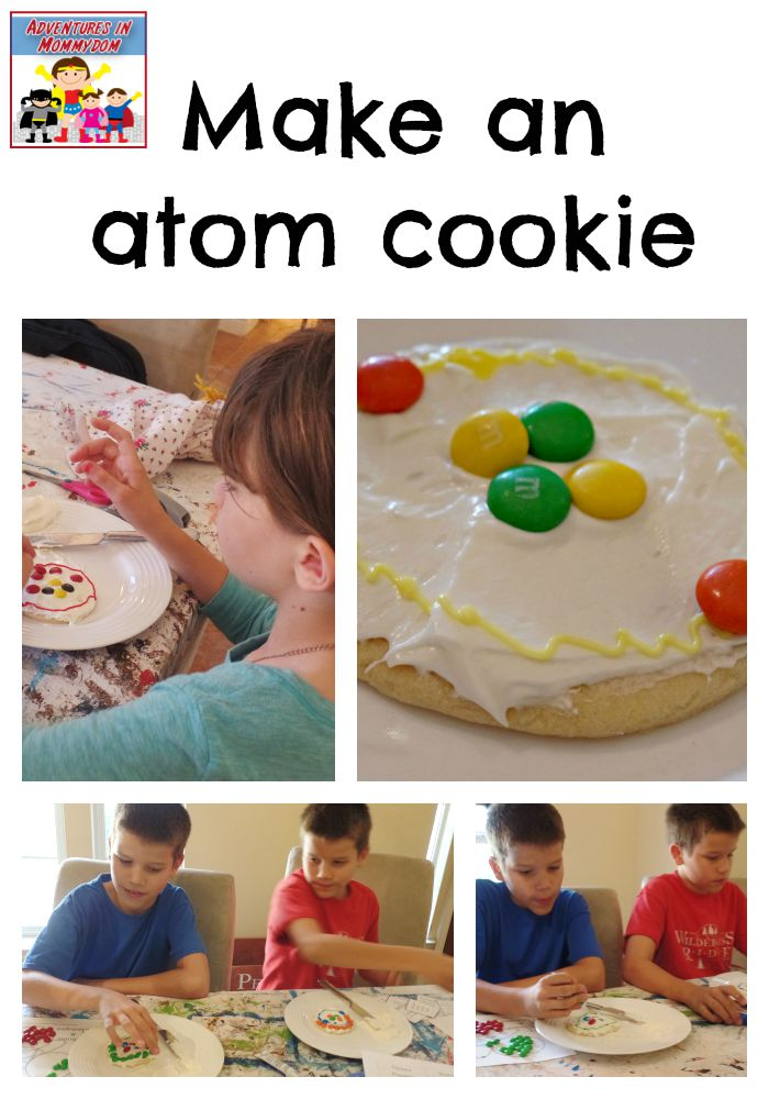 make an atom cookies