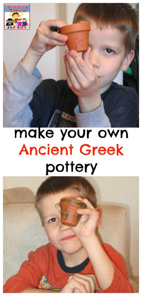 make your own Ancient Greek pottery with this Ancient Greeks lesson