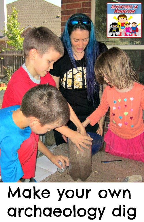 make your own archaeology dig lesson