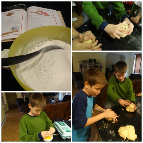 making Saint Lucia bread for Christmas in Sweden