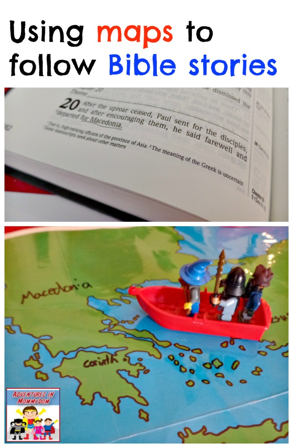 maps and Bible stories