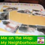 me on the map my neighborhood preschool kinder geography