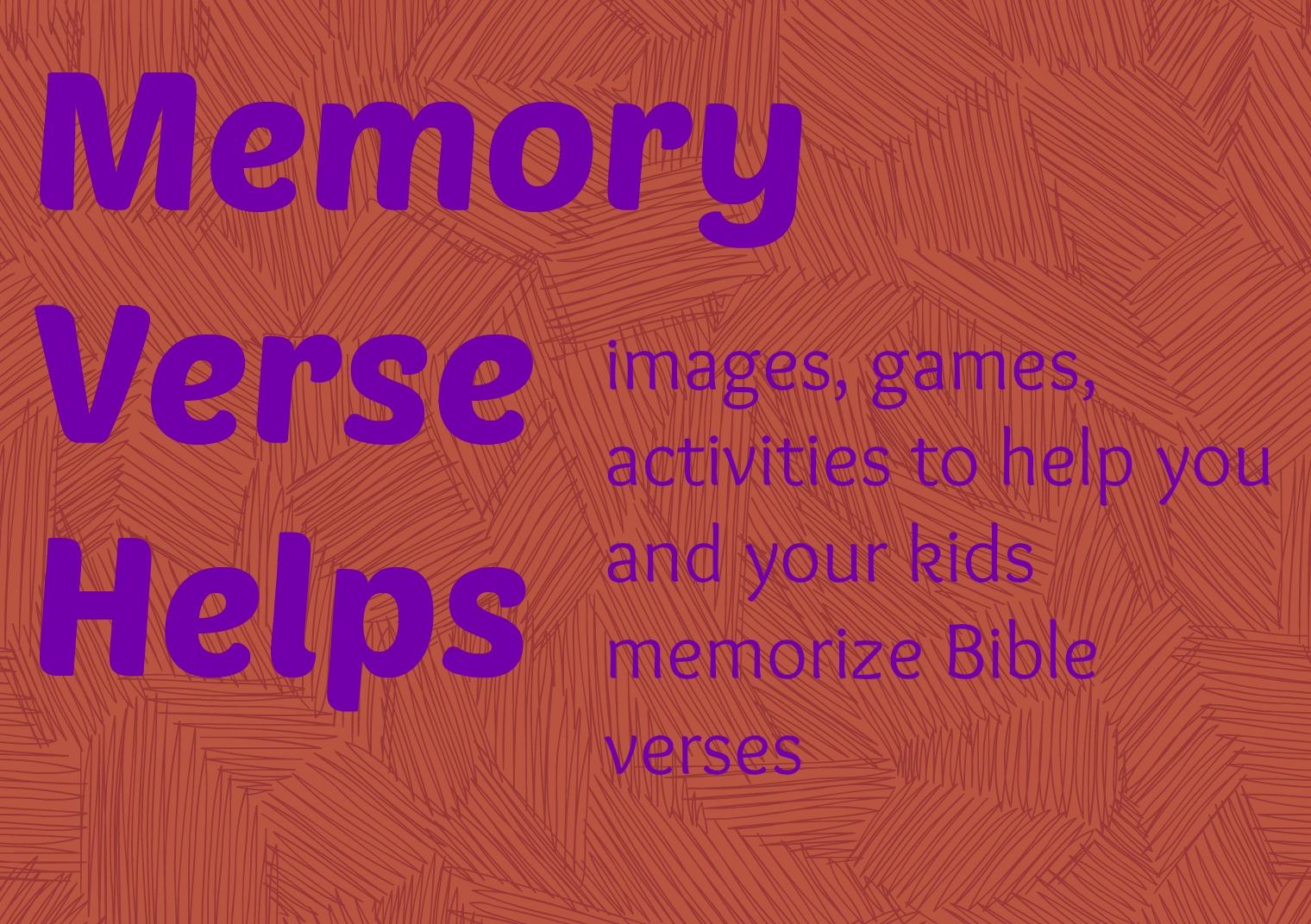 Memory Verse helps