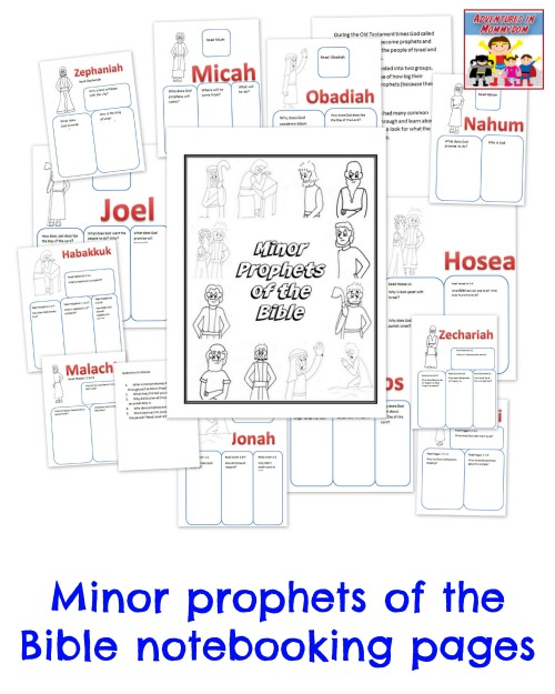 minor prophets notebooking pages