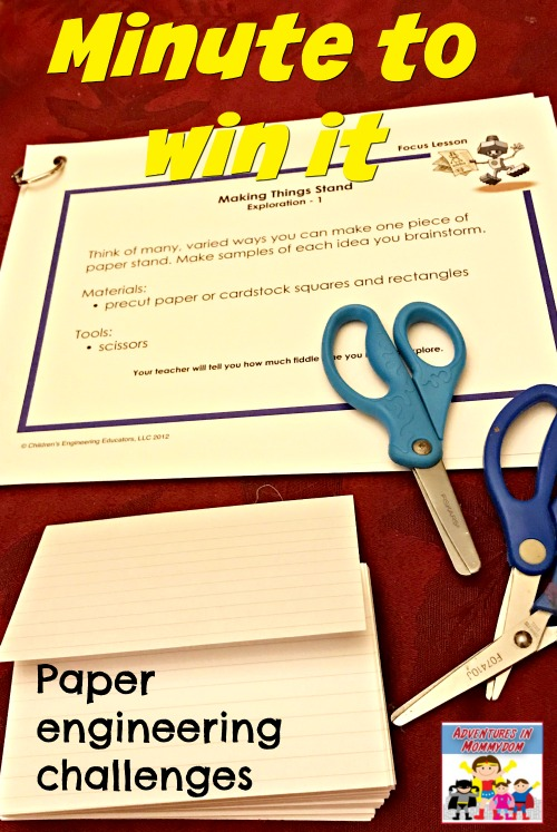 minute to win it paper engineering challenge
