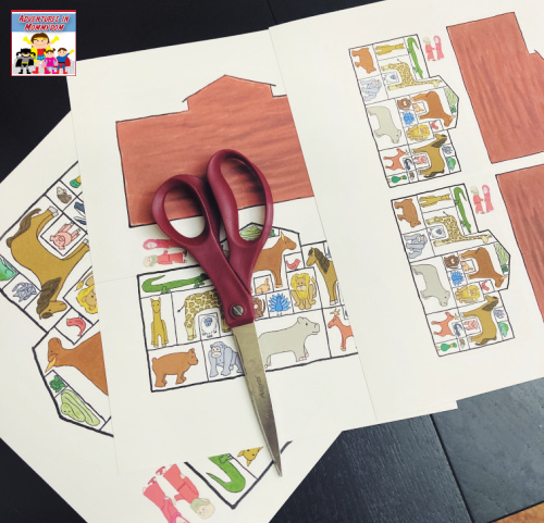 printable Noah's ark game all ready to cut out
