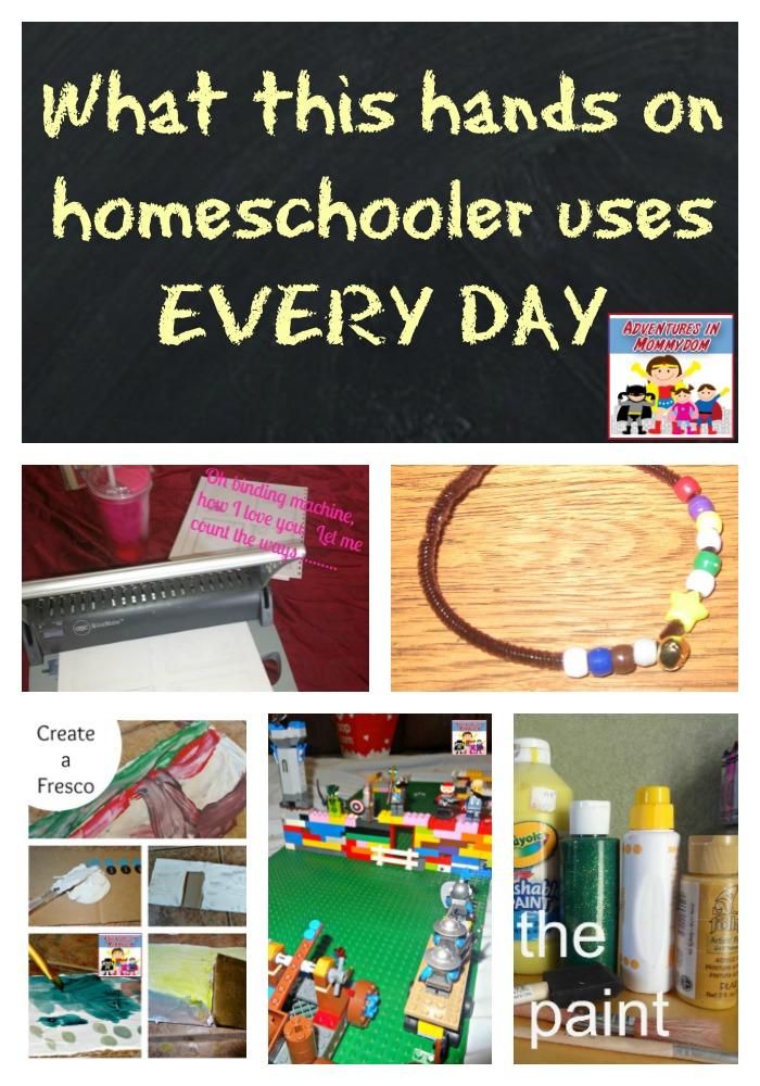 must have hands on homeschool supplies
