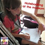 notebooking at the museum
