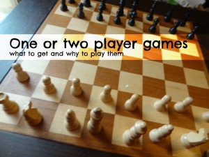 One or two player games