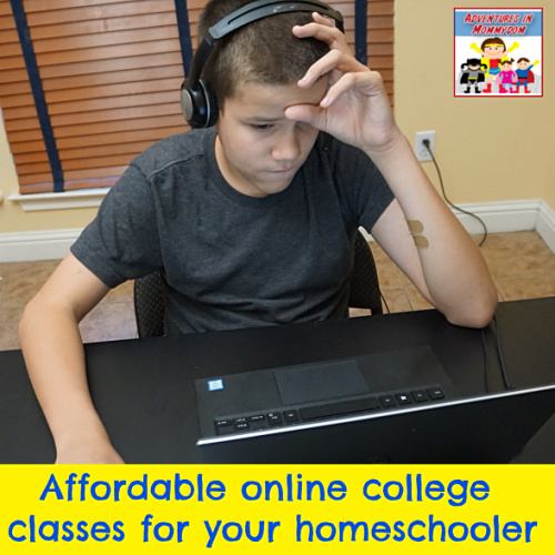 online college class for homeschool