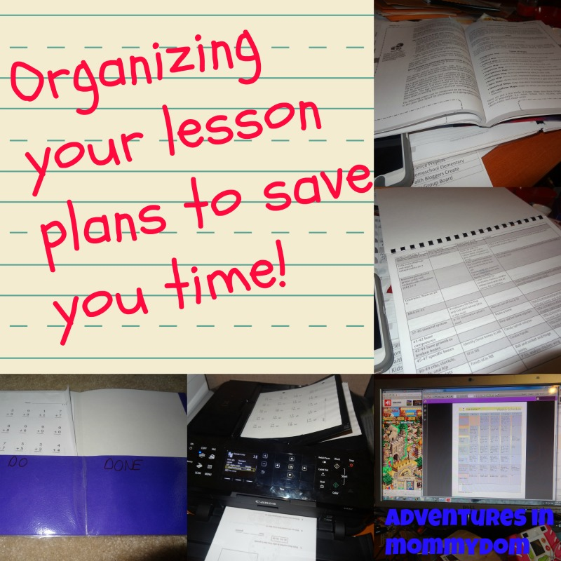 organizing your lesson plans to save you time