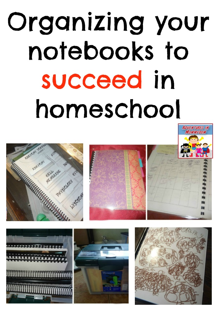 organizing your notebooks to succeed in your homeschool