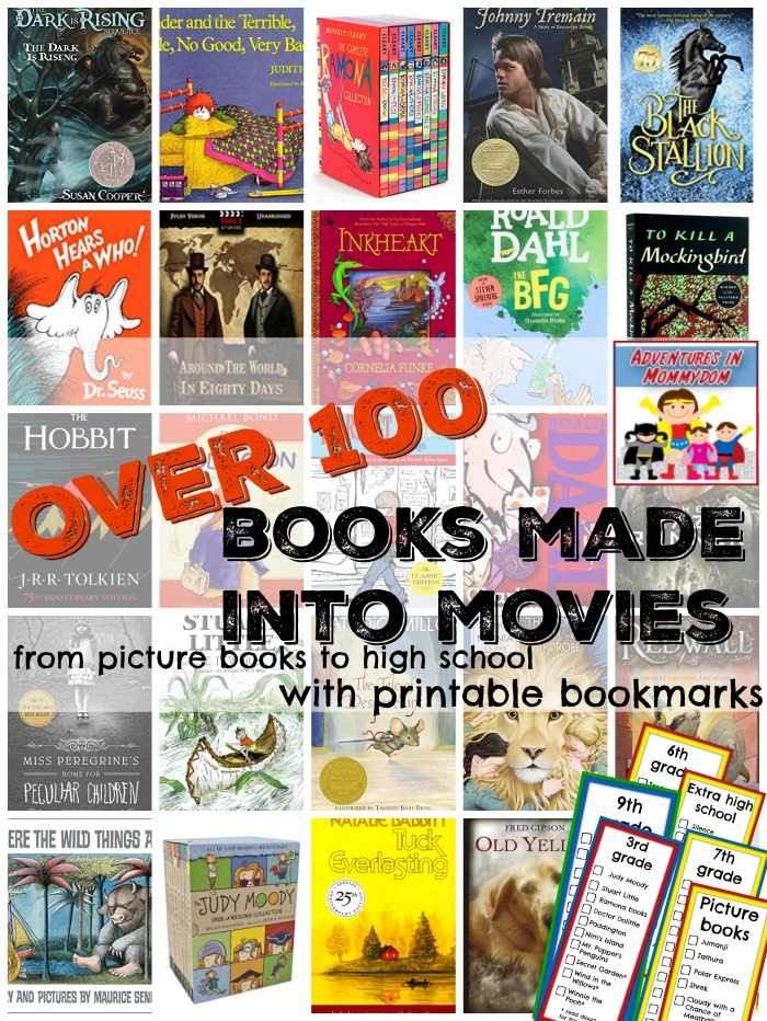 over 100 books made into movies