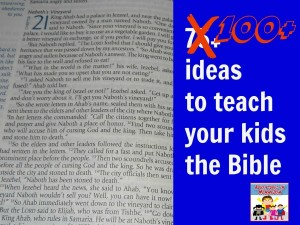 100 Ideas to teach kids the Old Testament