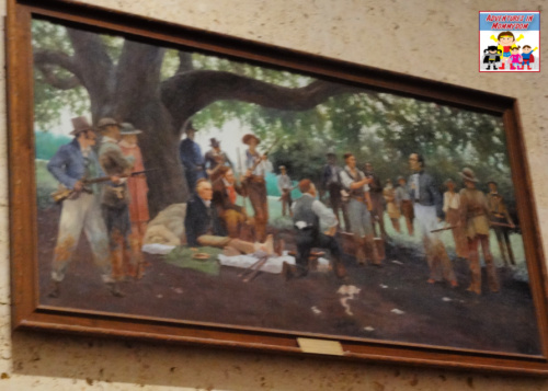 paintings from the San Jacinto monument