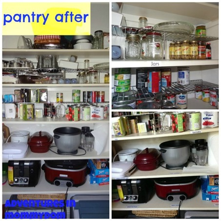 pantry organization tips after picture