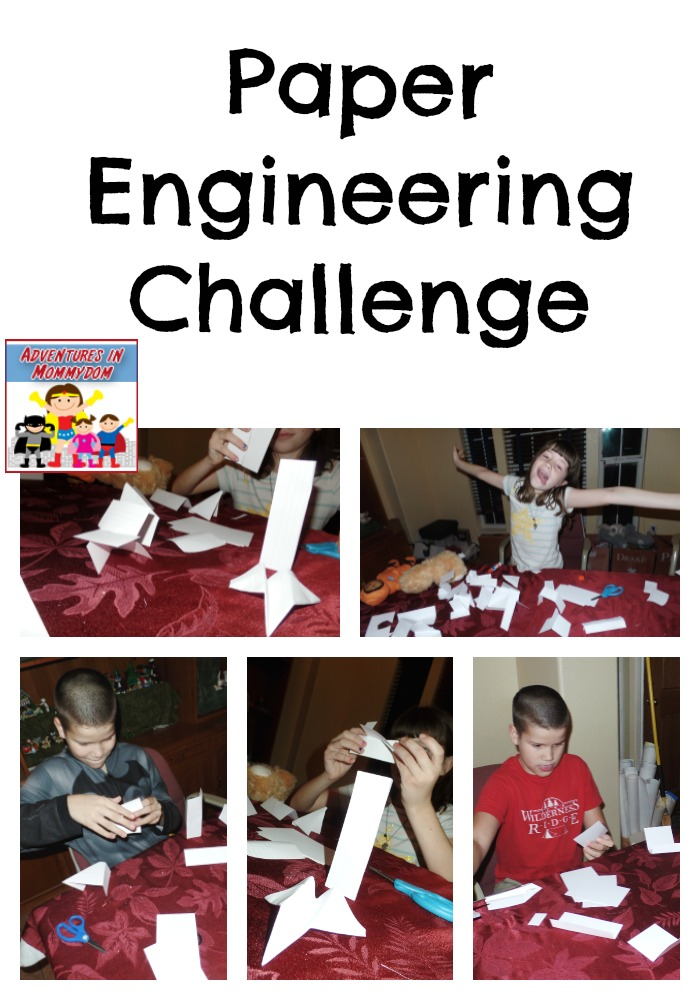 paper engineering challenge great STEM project