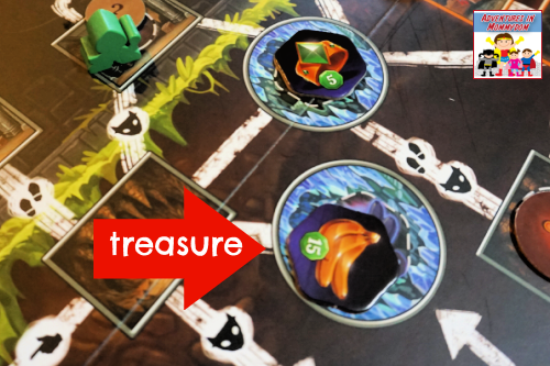 pick your treasure to go for in Clank board game