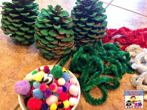 Pine cone christmas tree for Pine cone christmas tree craft