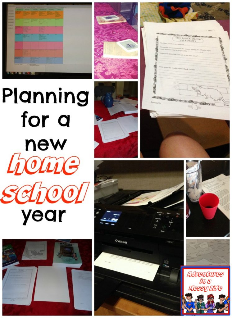 planning for a new homeschool year